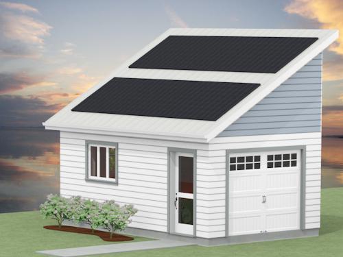 CAD 12x20 Solar Garage